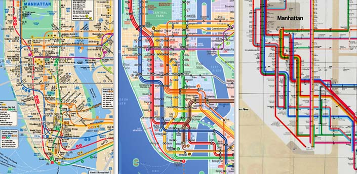 ... Map and the NYC subway app ...